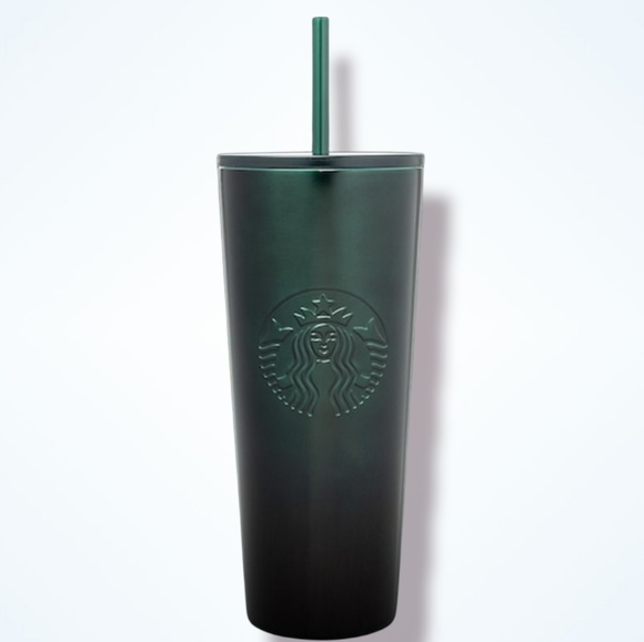 STARBUCKS Green Gradient Stainless-Steel Cold Cup - 24 fl oz